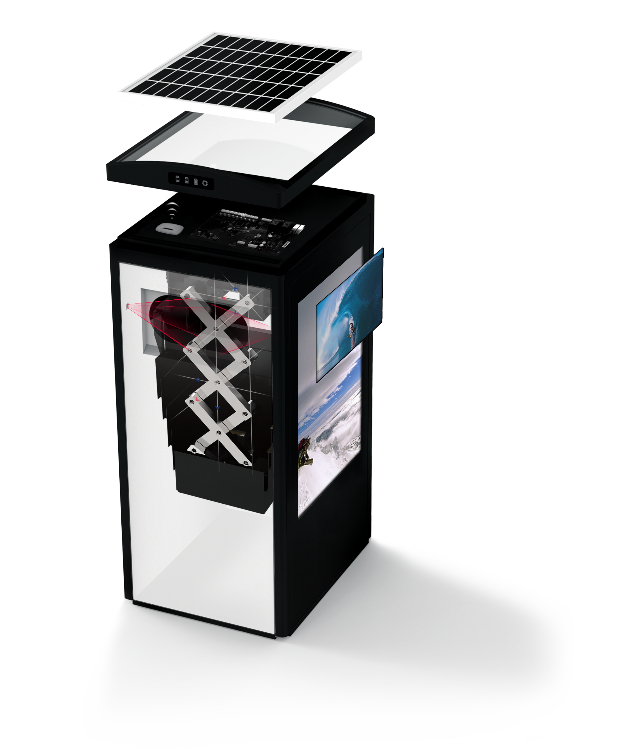 Solar Powered Trash Compactor Cleancube Ecube Labs