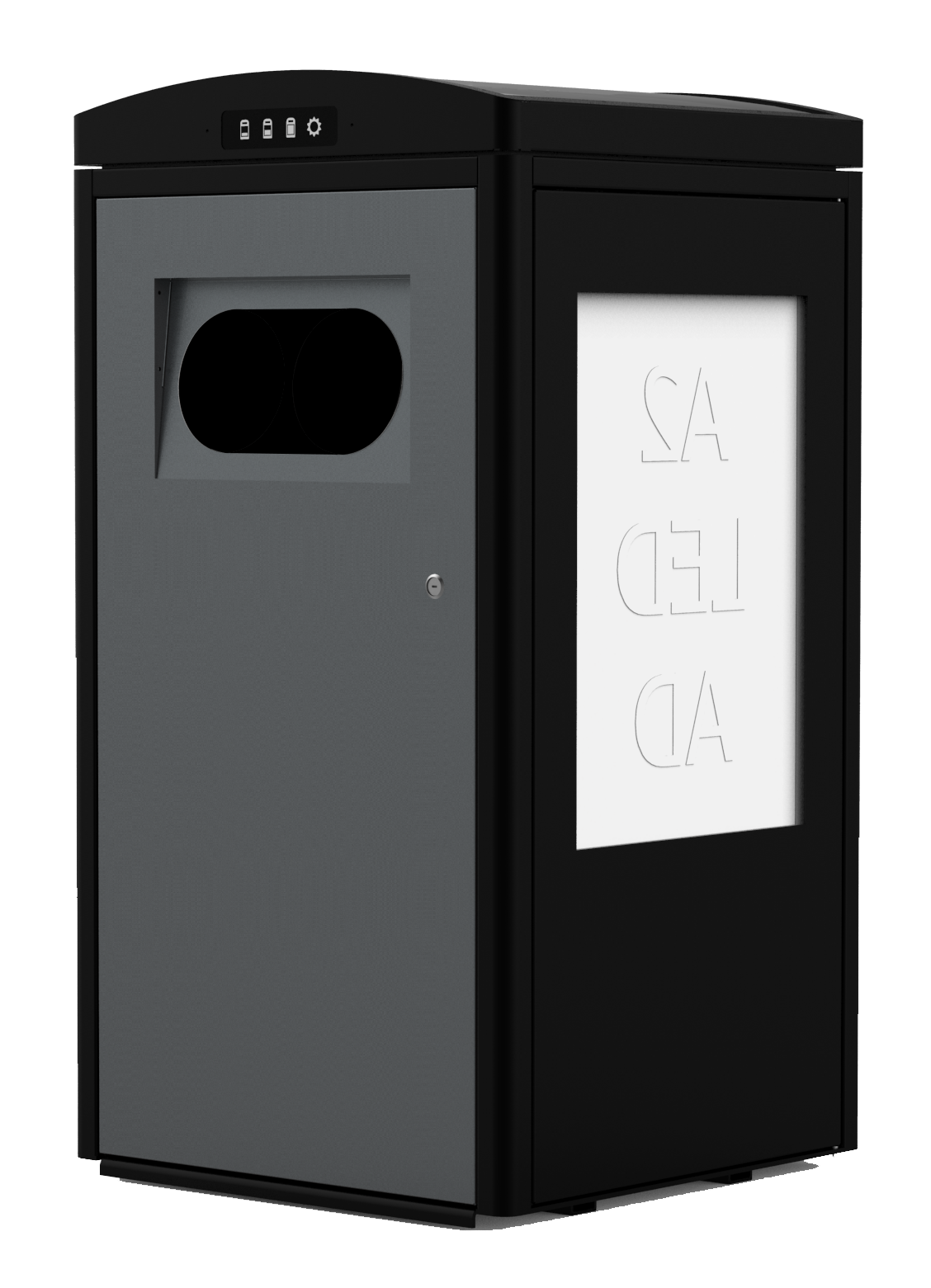 100L CleanCUBE solar-powered waste compacting bin