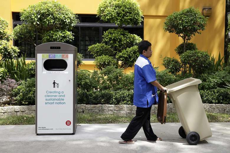 Smart waste compactor in Bukit Batok, Singapore