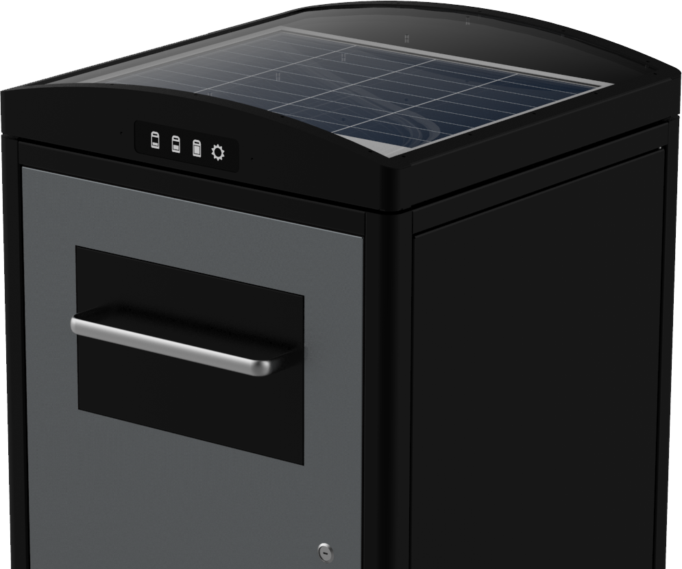 Solar Powered Trash Compactor Cleancube Ecube Labs Industrial Waste Compactors Wiring Diagrams