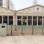 Solar-powered waste compacting bin in Everland amusement park